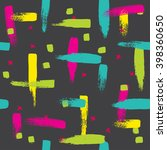 seamless pattern with brush... | Shutterstock . vector #398360650