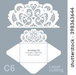 vector die laser cut envelope... | Shutterstock .eps vector #398363644