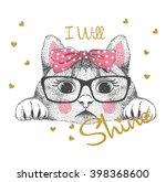 Stock vector cute cat illustration 398368600