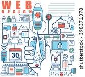 illustration of vector modern... | Shutterstock .eps vector #398371378