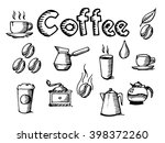 coffee icon cup bean drop hot... | Shutterstock .eps vector #398372260