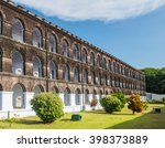 a wing of cellular jail at port ... | Shutterstock . vector #398373889