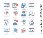 vector set of seo and... | Shutterstock .eps vector #398376088