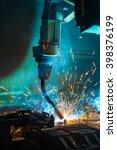 welding robots movement in a... | Shutterstock . vector #398376199