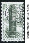 Small photo of RUSSIA KALININGRAD, 20 OCTOBER 2015: stamp printed by Belgium, shows Pillar Box, circa 1977