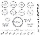 set of leaf badges | Shutterstock .eps vector #398377360