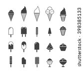 ice cream icon set | Shutterstock .eps vector #398385133