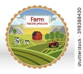 organic food label. print