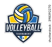 volleyball logo badge  american ... | Shutterstock .eps vector #398392270
