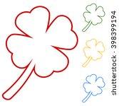 leaf clover line icon