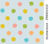 cute colorful polka dots vector ...   Shutterstock .eps vector #398401414