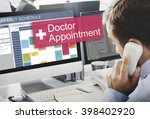 doctor appointment diagnosis... | Shutterstock . vector #398402920