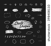 chalk hand drawn shapes  white... | Shutterstock .eps vector #398408110