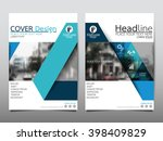 blue triangle annual report... | Shutterstock .eps vector #398409829