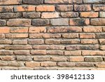 old orange brick wall  texture... | Shutterstock . vector #398412133