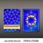 bright set of leaflets with... | Shutterstock .eps vector #398415088