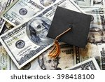 miniature graduation cap on... | Shutterstock . vector #398418100