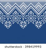 winter sweater design. seamless ... | Shutterstock .eps vector #398419993