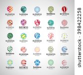 sphere icons set isolated on... | Shutterstock .eps vector #398422258