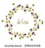 wine label or background with... | Shutterstock .eps vector #398424448