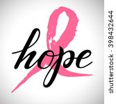lettering drawing word hope... | Shutterstock .eps vector #398432644