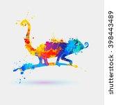 Chameleon  Splash Paint