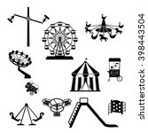 amusement park.  carnival... | Shutterstock .eps vector #398443504