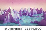 low poly mountains landscape... | Shutterstock . vector #398443900