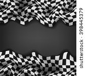 checkered flag and space for... | Shutterstock . vector #398445379