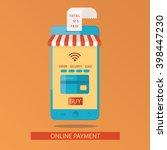 modern illustration of online... | Shutterstock . vector #398447230