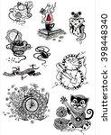 random accessories set of ink... | Shutterstock . vector #398448340