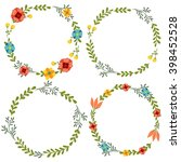 flowers clip art wreath | Shutterstock . vector #398452528