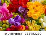 Bunch Of Fresh Freesia Flowers...