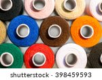 lot of colorful sewing thread ... | Shutterstock . vector #398459593