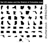 set of us states maps | Shutterstock .eps vector #398462464