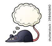 cartoon black rat with thought... | Shutterstock .eps vector #398464840