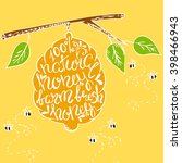 honey banner with hand drawn... | Shutterstock .eps vector #398466943