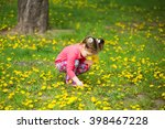Beauty Little Girl With Yellow...