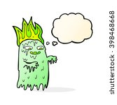 cartoon spooky ghost with...   Shutterstock .eps vector #398468668