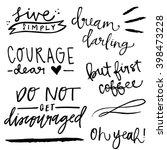cute hand lettering. lettering...   Shutterstock .eps vector #398473228