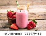 Strawberry Milkshake In The...