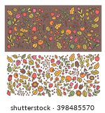autumn flowers and leaves. | Shutterstock .eps vector #398485570