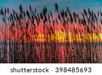 sunset at the jersey shore   Shutterstock . vector #398485693