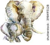 elephant. elephant illustration ... | Shutterstock . vector #398495128