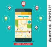 illustration of mobile... | Shutterstock . vector #398495899