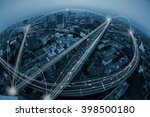 city and communication concept | Shutterstock . vector #398500180