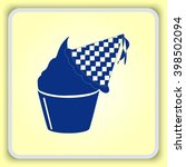 birthday cake icon  vector... | Shutterstock .eps vector #398502094