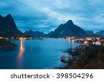 scenic landscape on lofoten...   Shutterstock . vector #398504296
