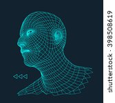 head of the person from a 3d... | Shutterstock .eps vector #398508619