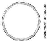 round black and white border... | Shutterstock .eps vector #398509030
